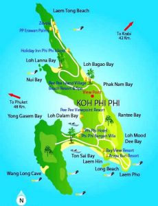 Koh-Phi-Phi-islands-map